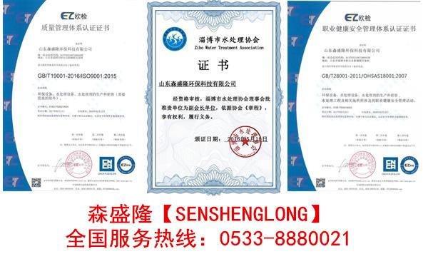 森盛隆反渗透阻垢剂专利证书
